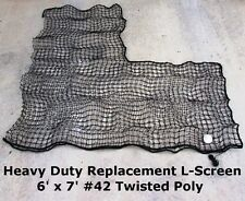 Heavy Duty Replacement L-Screen 6' x 7' #42 Batting Cage Baseball Pitching Net