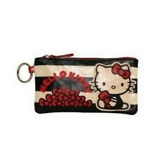 HELLO KITTY Pencil Case COSMETIC BAG - Black & White w/ Red Bows - SANRIO