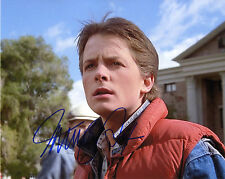 REPRINT - MICHAEL J. FOX 2 Back to the Future autographed signed photo copy