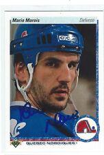 Mario Marois Signed 1990/91 Upper Deck Card #8