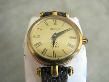 Vintage Ladies Gucci Quartz Watch 80s 5 Jewel Swiss Movement