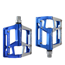 RockBros Cycling Bike Platform Aluminum Alloy 3Sealed Bearings Pedals Blue