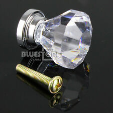 10x Clear Acrylic Drawer Pull Knobs Cabinet Dresser Cupboard Handle