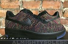 Nike Air Force 1 Ultra Flyknit Low Black Crimson Purple UK6.5 EUR40.5 817419 001