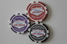 100 Save the Date Fridge Magnets Casino Poker Chips Personalised Wedding
