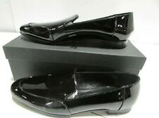 JIL SANDER Black Patent Leather LOAFERS Flats sz 38/8 NEW in Box