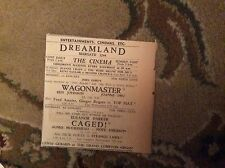b2-4 1950 ephemera advert dreamland margate wagonmaster ben johnson joanne dru