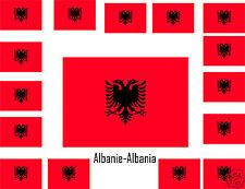 Assortiment lot de10 autocollants Vinyle stickers drapeau Albanie-Albania
