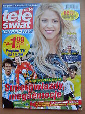 TELE SWIAT 12/2014 SHAKIRA on front cover in.Joanna Krupa,George Clooney