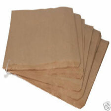 "500 x 7"" x 7"" Brown Paper Kraft Food Retail Bags Strung"