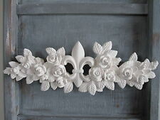 DECORATIVE SHABBY CHIC FLEUR DE LIS FLOWER BURST /FURNITURE/PROJECT/MOULDING