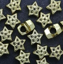 Wholesale 10pcs European style Five-pointed star Charms big hole Beads 9x12mm
