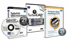 TurboCAD Pro 21 Platinum & v21 CAM Plug in & v21 Training CD - CAD CAM Solution