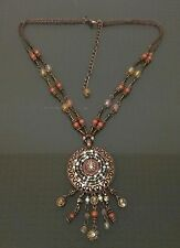 Attractive bead/gem/pendant ethnic style neck line necklace in good condition.