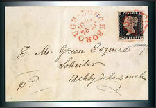 1840 QV Queen Victoria Penny Black Maltese Cross --  Postcard Size Photo Print