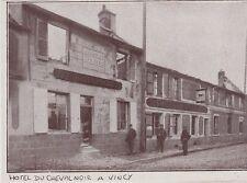 1919  --  VINCY   HOTEL DU CHEVAL NOIR EN RUINES   3E167