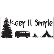 Hágalo sencillo Camping Camper Van Car Vinilo Pegatina Calcomanía