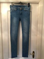 Ladies Seven For All Mankind Blue Jeans Size W30 Inside Leg 32""