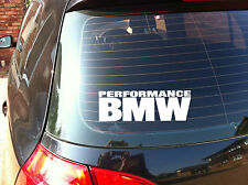 PERFORMANCE BMW Car Decal Sticker Series 1,2,3,4,5, M3 M5E38 E39 E46 E90 (A082