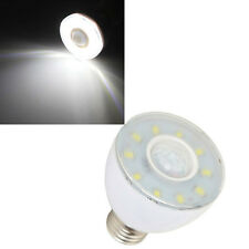 E27 5W White 550LM 8 SMD 5730 Microwave Radar Body Sensor LED Light Bulb 220V