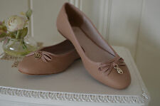 Worn Once FAITH - Cute Nude Blush Flat Bally Style Pumps UK 6 39  Fab Condition