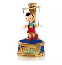 """2015 Hallmark """"Disney Pinocchio"""" magic Ornament - 75th Anniversary Edition"""
