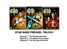 STAR WARS PREQUEL TRILOGY EPISODE  1 2 3 MOVIE FILM DVD 6 DISC COLLECTION Sealed