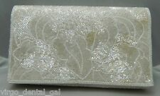 VTG Ivory Colored LORD & TAYLOR Beaded Evening Clutch Purse Handbag