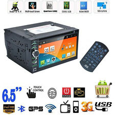 "Top Quad Core Android 4.4 GPS Car Radio DVD Player 6.5"" Double 2 DIN 3G WIFI en"