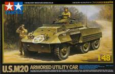 Tamiya 32556 1/48 Scale Model Kit US M20 Armored Utility Scout Car w/2 Figure