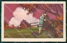 Corbella Italian Art Deco Romantic Couple Degami serie 66 postcard QT6686