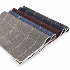 Lot 5 Packs Men's Cotton Handkerchief Plaids Checks Suit Pocket Square Hanky