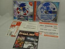 SEGA Dreamcast Sonic Adventure with Obi(Spine), Postcard, Fliers 1Day TrackNo.