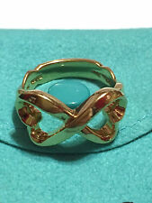 TIFFANY & CO / Paloma Picasso - Solid 18k 18kt GOLD - LOVING HEART Infinity Ring