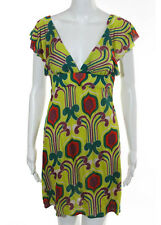 NWT T BAGS LOS ANGELES Yellow Multi Color Butterfly Print Sleeveless Dress Sz S