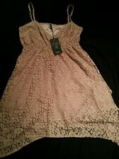 Size 12 B.Young Mahtop Pink Floral Lace Style Dress Women's/Ladies/Summer/NEW