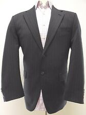 LAUREN Ralph LAUREN Suit 40R Gray PIN Striped MENS Wool SIZE Two BUTTON Vented**