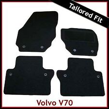 Volvo V70 Mk3 Automatic 2007 onwards Tailored Fitted Carpet Car Mats BLACK
