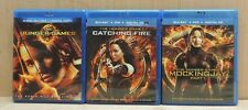 The Hunger Games, Catching Fire, Mockingjay Part 1- Blu-Ray DVD/ Digital Copy