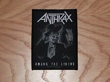 ANTHRAX - AMONG THE LIVING (NEW) SEW ON W-PATCH OFFICIAL BAND MERCHANDISE
