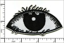 20 Pcs Embroidered sew or Iron on patches Eye Black 8.6x4.5cm AP055fA