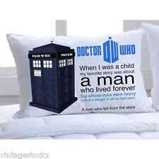 Doctor Who Tardis Police Box Quote Personalized Polyester Pillow Cases Cover