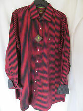 NWT Men's TailorByrd Red,Black Striped Long Sleeve Shirt,Casual Sz 3XLT