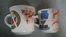 LOT OF 2 NAVY AND ARMY COFFEE MUGS NUCLEAR WEAPONS TRAINING GROUP SPECIAL FORCES