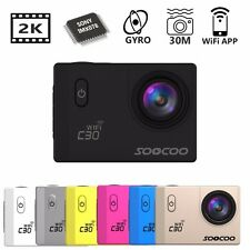 SOOCOO C30 WiFi 2K Ultra HD Adjustable View Angles 90-170 Sports Action Camera