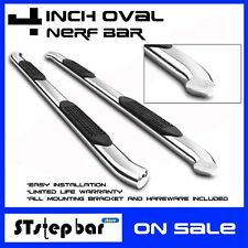 "4"" OVAL BENT CHROME NERF BAR FOR 99-03 FORD F150 Super Cab Running Board RAIL"