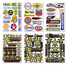 Rockstar Energy Sticker Gas Helmet Motocross Moto GP Bike MTB ATV Racing Decal