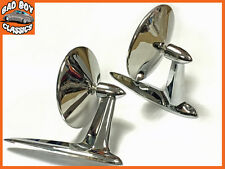 Pair Of American Style Classic Longbase Door Wing Mirrors HOT ROD / KIT CAR