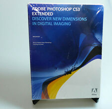 Adobe Photoshop CS3 Extended full retail sealed 19400083 OS X genuine