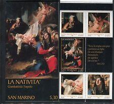 SAN MARINO 2006 NATALE-BOOKLET/ART/NATIVITY by TIEPOLO/JOSEPH/ANGEL/JESUS/MARY